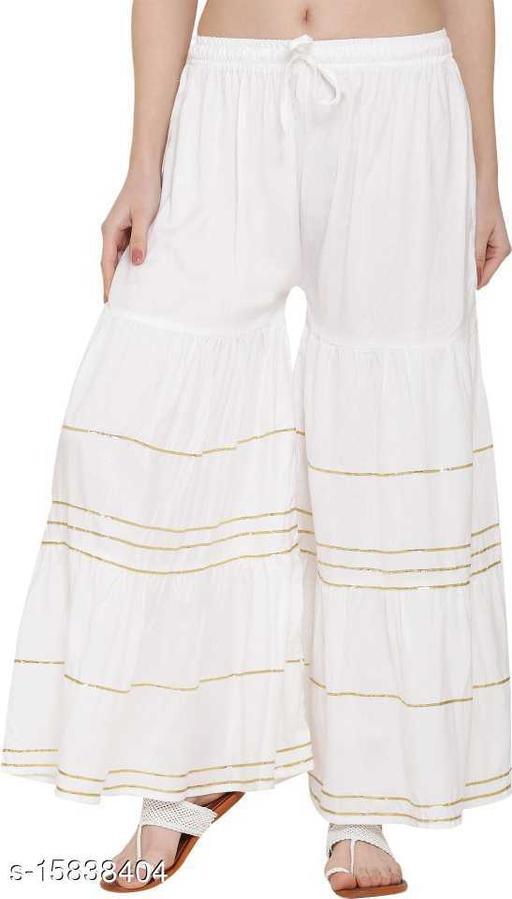 white color reyon fashion palazzo