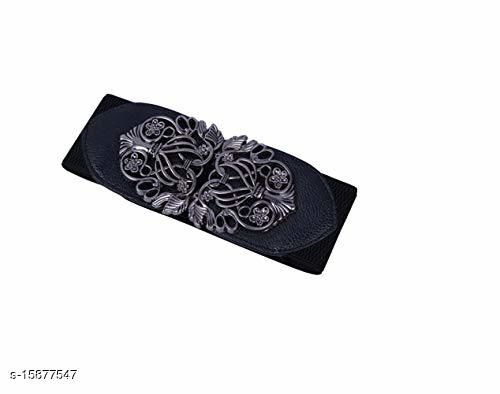 Female belt Free size Black colour,for semi casual occasions