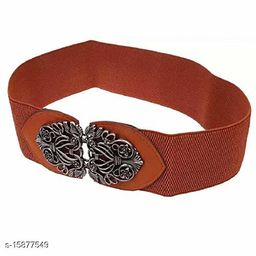 Female Stretchable belt Free size Camel colour,for semi casual occasions