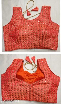 Designer Tapta Silk Mirror Work Readymade Blouse