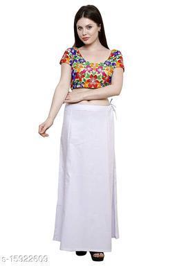 Sabhyatam Girls/Women's Pure Cotton Saree Peticoats