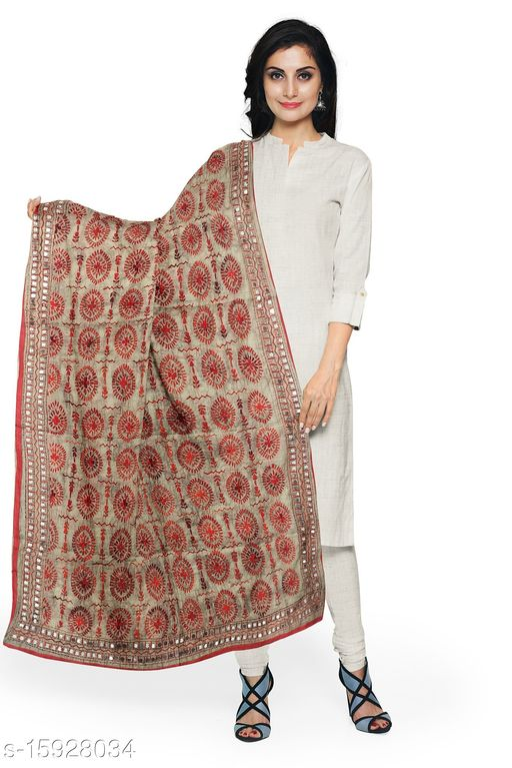 Chanderi Handwork Embroider Dupatta