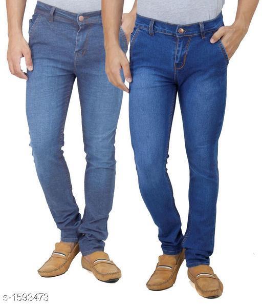 Modern Denim Solid Men's Jeans ( Pack Of 2 )