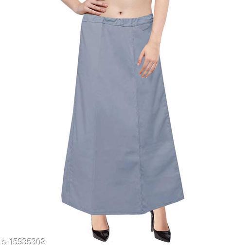 Pure Cotton Saree Petticoat Gray Color Free Size