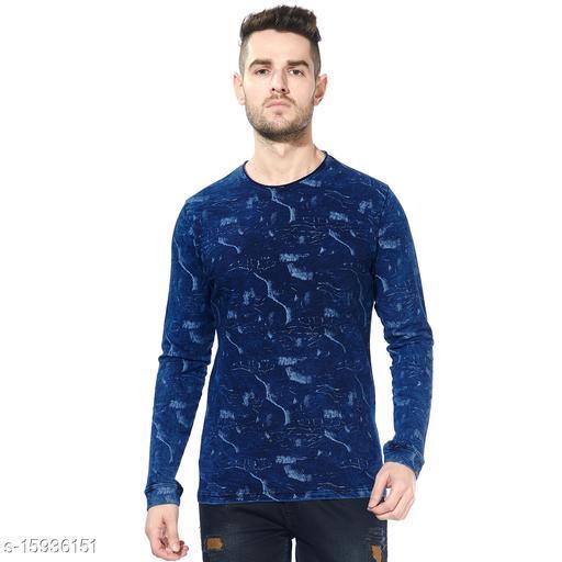 Black Snow Men's Geomatric Printed Loopknit Indigo Sweatshirt - Dark Blue