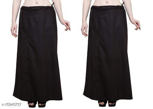 Cotton Petticoat-Black-8Part(Pack of 2)