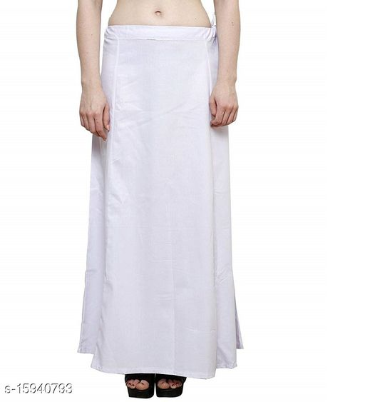 Cotton Petticoat-White-8 Part(Pack of 1)