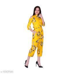 Stylish American crepe jumpsuit