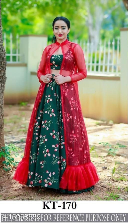 Mantra Fashion New Printed Silk Lehenga Choli