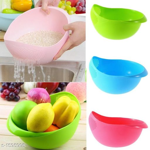 Jars & Container Rice & Fruit Bowl (Pack Of 3)  *Material* Plastic  *Description* It Has 3 Pieces Of Rice & Fruit Bowl  *Sizes Available* Free Size *   Catalog Rating: ★3.9 (10)  Catalog Name: Classic Tableware Utilities Vol 3 CatalogID_199045 C130-SC1639 Code: 383-1595995-