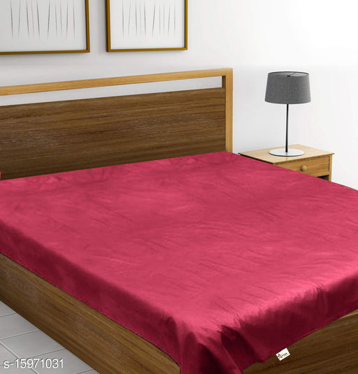 Waterproof Plastic Mattress Protector Bedsheet for Baby and Adult - Double Bed/King Size - 7.5 x 6.5 feet - Red