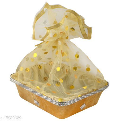 TRADITIONAL DESIGN WEDDING BASKET-COLOUR-GOLD- 1 PIECE