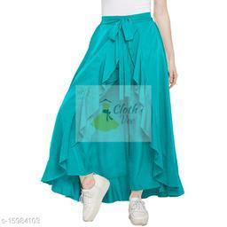 CLOTHVEE Designer Women's Ruffle Skirt Free Size