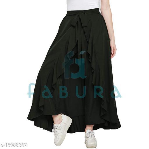 FABURA Designer Women's Ruffle Skirt Free Size