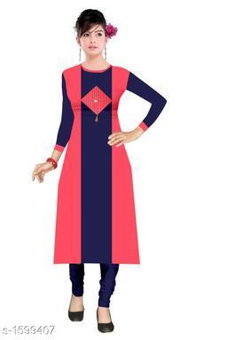 Women's Colorblocked Rayon Kurti