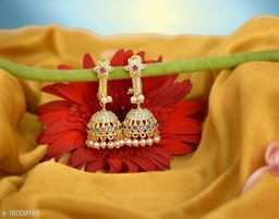 Mallepula Trendy CZ Stone and Micro Gold Plated Makarakundanalu Earrings Collection for Women and Girls