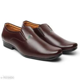 Stylish Brown Slip-On Formal Shoes For Men