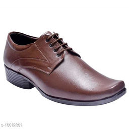 Stylish Brown Lace-Up Formal Shoes For Men