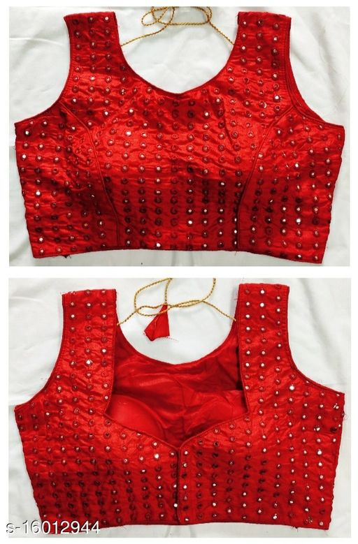 EXCLUSIVE COLLECTION MIRROR WORK DESIGN READY MADE BLOUSE