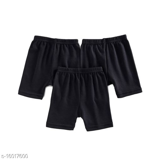 Women Boy Shorts Black Cotton Panty (Pack of 3)
