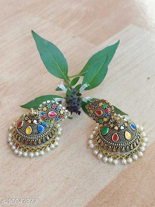 Meenakari jhumka Earrings