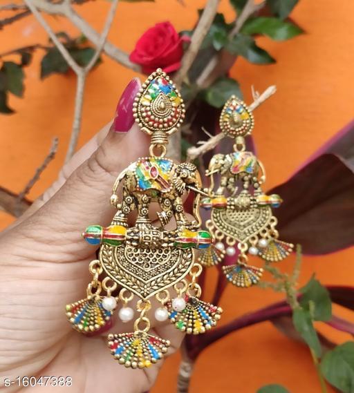 Elephant Chandbali Earrings
