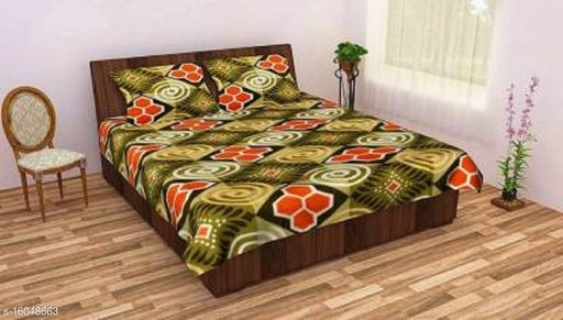 Uniquestyletrader Warm Double Bedsheet With Two Pillow Covers