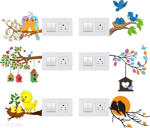 Global Graphics Decorative Switch Board Sticker For Home Switch Penal (pvc vinyl Multicolor)
