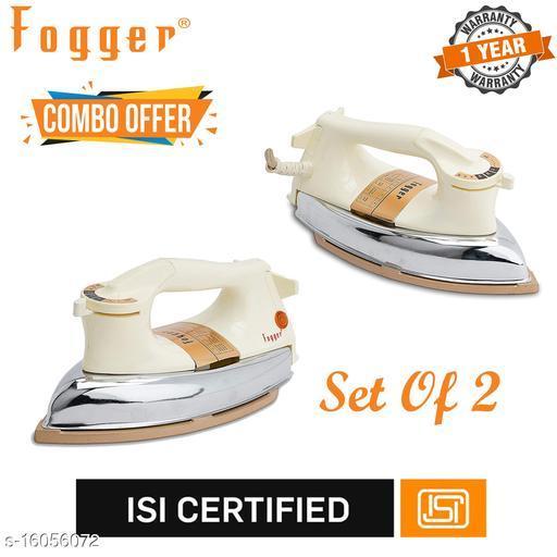 Fogger Duro Heavy Weight Plancha 1000 W Dry Iron (Set Of 2)