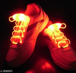 Gabbar Waterproof Luminous LED Shoelaces Fashion Light Up Casual Sneaker Shoe Laces Disco Party Night Glowing Shoe Strings -Red