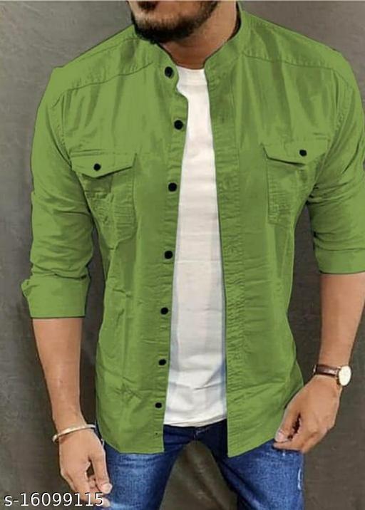 trendy stylish chinese collar MEN SHIRTS