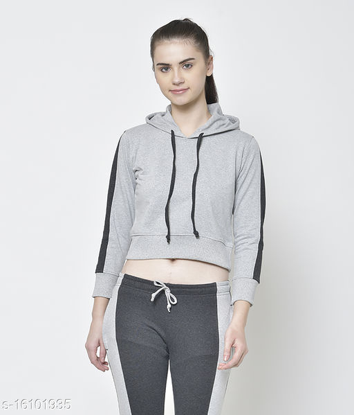 American-Elm Dark Grey stylish & Treandy Hoody Sweatshirts for Women