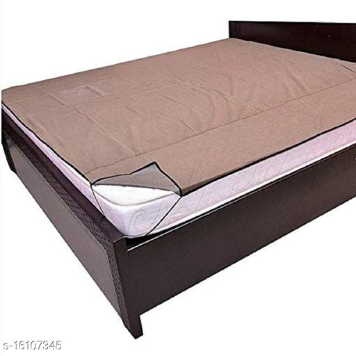 HomeStore-YEP 100% Waterproof Mattress Protector Cover with Elastic Strap for Baby, Double Bed (75 x 72inch, Color-Brown)