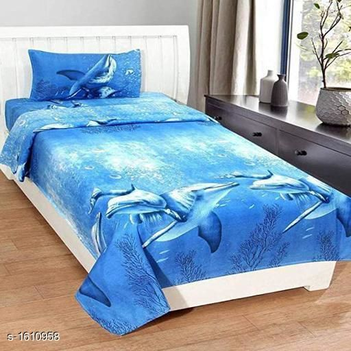 3D Microfiber Single Bedsheets With Pillow Cover