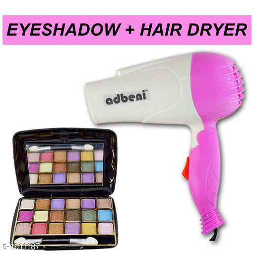 Makeup Kits Premium Choice Makeup kit Combo  *Product Name* Eyeshadow kit with free Hair Dryer  *Product Type* Eyeshadow & Hair Dryer  *Product Description*