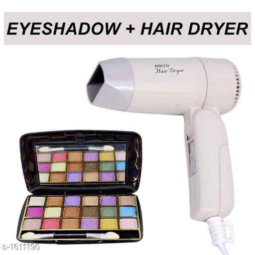 Makeup Kits Premium Choice Makeup kit Combo  *Product Name* Eyeshadow kit with free Hair Dryer  *Product Type* Eyeshadow kit & Hair Dryer  *Product Description*