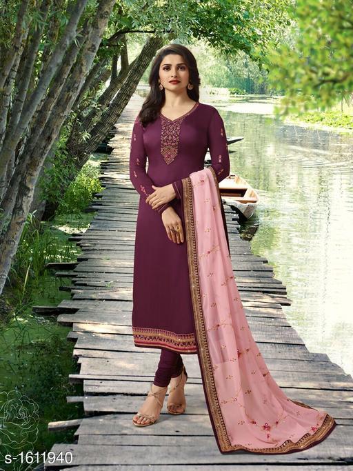 Pretty Satin Silk Suit & Dress Material
