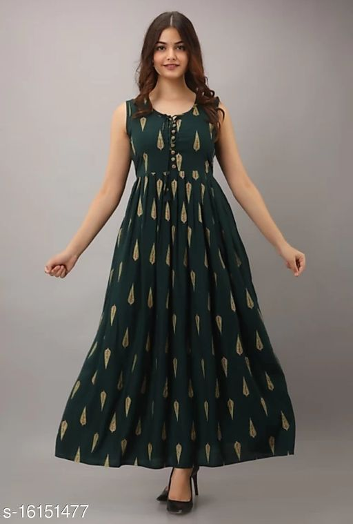 Women's Fit and Flare Long Dress