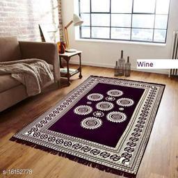 HomeStore-YEP™ Designer Superfine Exclusive Chennile Carpet For Living Room   Bedroom   Hall   Size - 5 x 7 Feet
