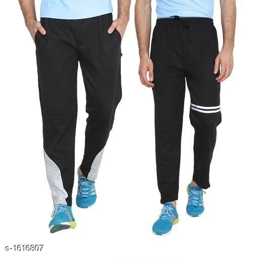 Track Pants Handsome Simple Hosiery Cotton Blend Track Pants Combo  *Fabric* Hosiery Cotton Blend  *Waist Size* M - 30 in, L - 32 in, XL - 34 in  *Length* Up To 40 in  *Type* Stitched  *Description* It Has 2 Piece Of Men's Track Pant  *Pattern/ Work* Track Pant 1- Solid , Track Pant 2- Striped  *Sizes Available* M, L, XL *   Catalog Rating: ★4 (65)  Catalog Name: Mens Handsome Simple Hosiery Cotton Blend Track Pants Combo CatalogID_210334 C69-SC1214 Code: 593-1616807-