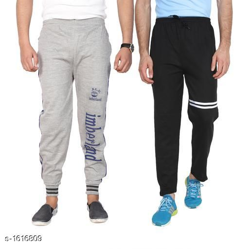 Track Pants Handsome Simple Hosiery Cotton Blend Track Pants Combo  *Fabric* Hosiery Cotton Blend  *Waist Size* M - 30 in, L - 32 in, XL - 34 in  *Length* Up To 40 in  *Type* Stitched  *Description* It Has 2 Piece Of Men's Track Pant  *Pattern/ Work* Track Pant 1 - Printed, Track Pant 2- Striped  *Sizes Available* M, L, XL *   Catalog Rating: ★4 (65)  Catalog Name: Mens Handsome Simple Hosiery Cotton Blend Track Pants Combo CatalogID_210334 C69-SC1214 Code: 593-1616809-