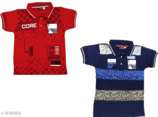 Boy's Polo Cotton T-Shirt (Pack of 2)