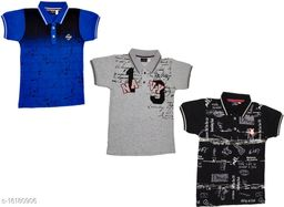 Boy's Polo Cotton T-Shirt (Pack of 3)