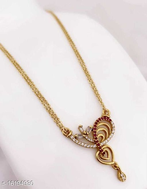 Copper gold plated chain pendal for women and girl