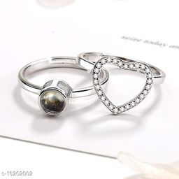 100 Languanges I LOVE YOU Projection Ring for Lovers Valentine Gift Stainless Steel Pearl Ring