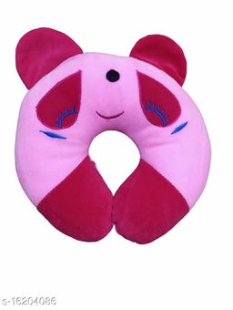 Newborn Baby's Soft Head Shaper,Neck support  Nursing Pillow (PINK LGHT Panda_ 0-12 Months)
