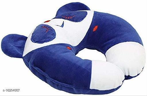 Newborn Baby's Soft Head Shaper,Neck support  Nursing Pillow (BLUE$WHITE Panda, 0-12 Months)