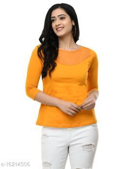 SAAKAA Women's Hosiery Mustard Regular Fitted Top