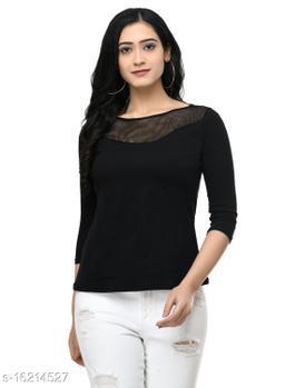 SAAKAA Women's Hosiery Black Regular Fitted Top