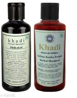 KHADI SHIKAKAI & SAFFRON REETHA PROTEIN SHAMPOO PACK OF 2